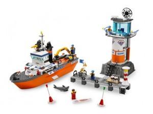 obrázek Lego 7739 City Pobřežní hlídka Hlídkový člun a věž