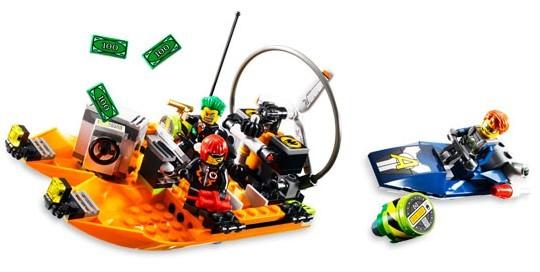 Lego 8968 Agents 2.0 Loupež na řece
