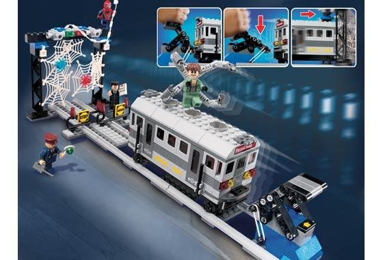 Lego 4855 Spiderman-Záchrana vlaku
