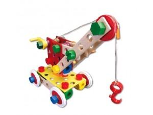 obrázek Baufix Jeřáb - dřevěné hračky a stavebnice