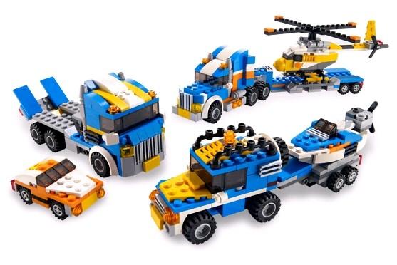 Lego 5765 Creator Kamion s helikopterou