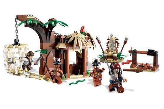 Lego 4182 Piráti z Karibiku Útěk před kanibaly