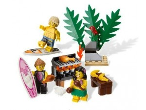 obrázek Lego 850449 Minifigurky Surfing and picnik on the beach