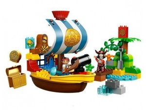 Lego 10514 Duplo Pirát Jake Na pirátské lodi
