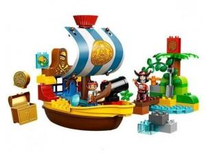 obrázek Lego 10514 Duplo Pirát Jake Na pirátské lodi