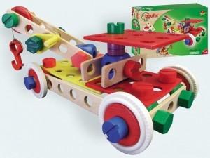 obrázek Baufix nakladač - dřevěné hračky a stavebnice