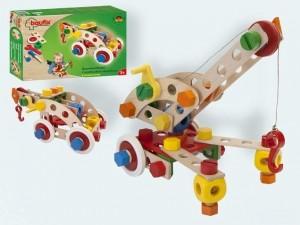 obrázek Baufix Stavební stroje - dřevěné hračky a stavebni