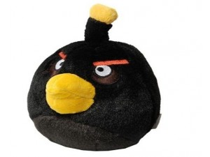 obrázek Angry Birds plyšový černý pták 20 cm