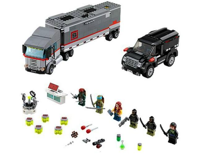 Lego 79116 Ninja Turtles Únik velkého sněžného náklaďáku