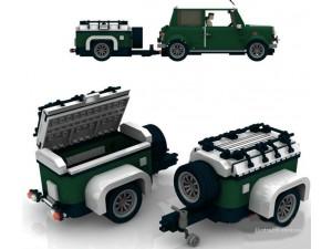 obrázek BOC 10222 BG Mini přípojný vozík zelený