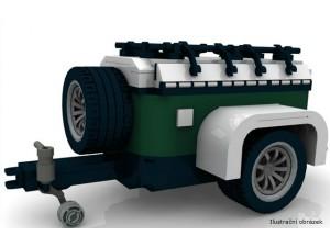 obrázek BOC 10222 BR Mini přípojný vozík červený