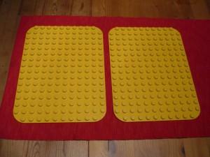 Lego Duplo žlutá podložka 19x25 cm