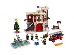 obrázek Lego 10263 Hasičská stanice v zimní vesnici