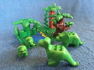 obrázek Lego Duplo 5598 Triceratopsí rodinka - bazarový set