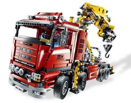 Lego 8258 Technic Tahač s jeřábem