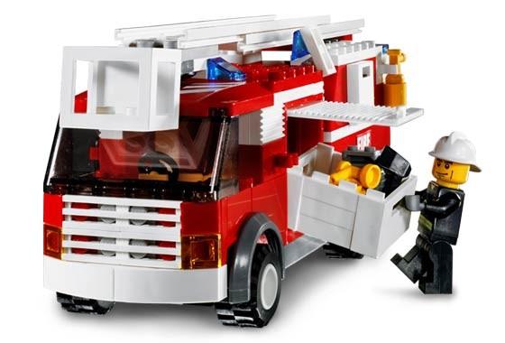 Lego 7239 City Hasičské nákladní auto