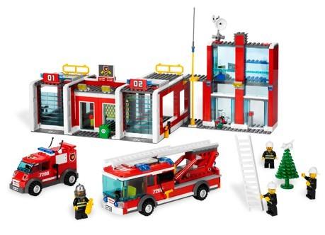 Lego 7208 City Hasičská stanice